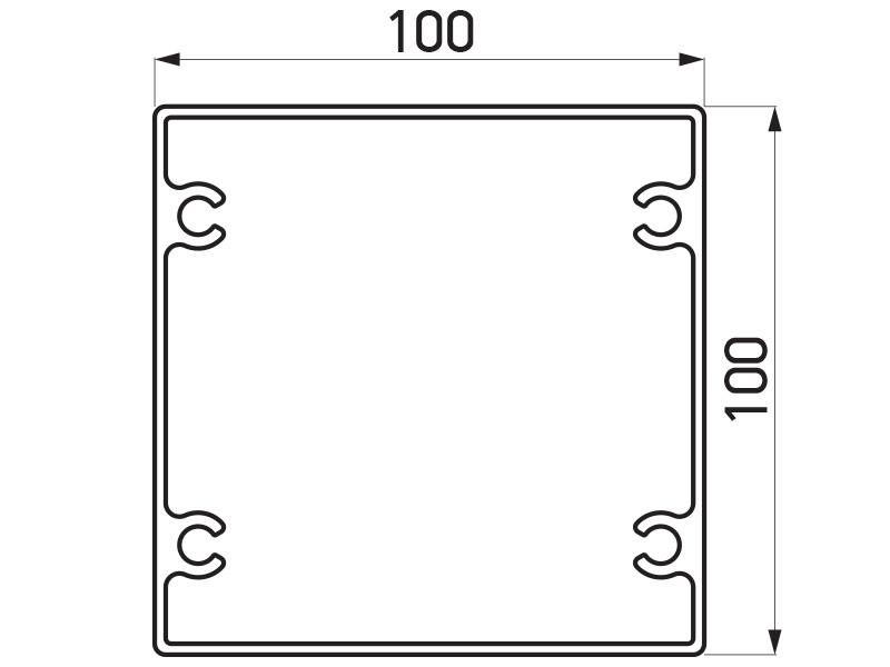 PR-9465 - F100 stub 100x100 mm - 6 m