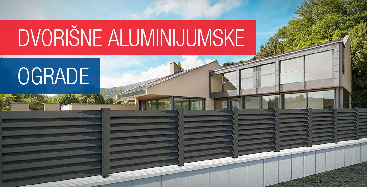 Dvorišne aluminijumske ograde