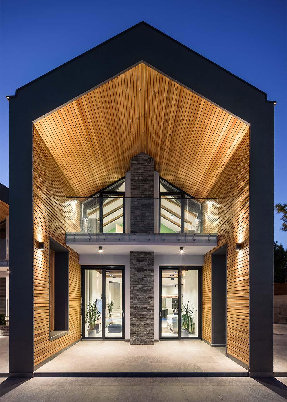 Elegant 3D štelujući nosači za staklene ograde na porodičnoj kući u Popovici na Fruškoj gori - Modelart Arhitekti / fotograf Miloš Martinović